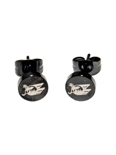 ear stud stainless steel black